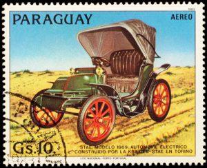 Historisches Elektromobil