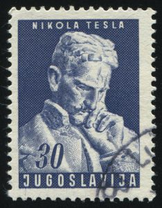 Nikola Tesla Briefmarke Jugoslawien