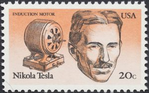 Nikola Tesla Briefmarke USA