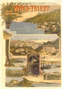 Plakat der Südbahngesellschaft