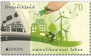 Umweltschutz Briefmarke Deutschland