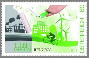 Umweltschutz Briefmarke Österreich