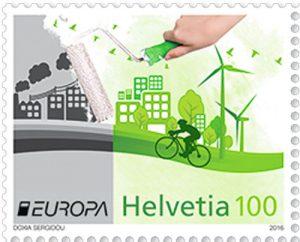 Umweltschutz Briefmarke Schweiz