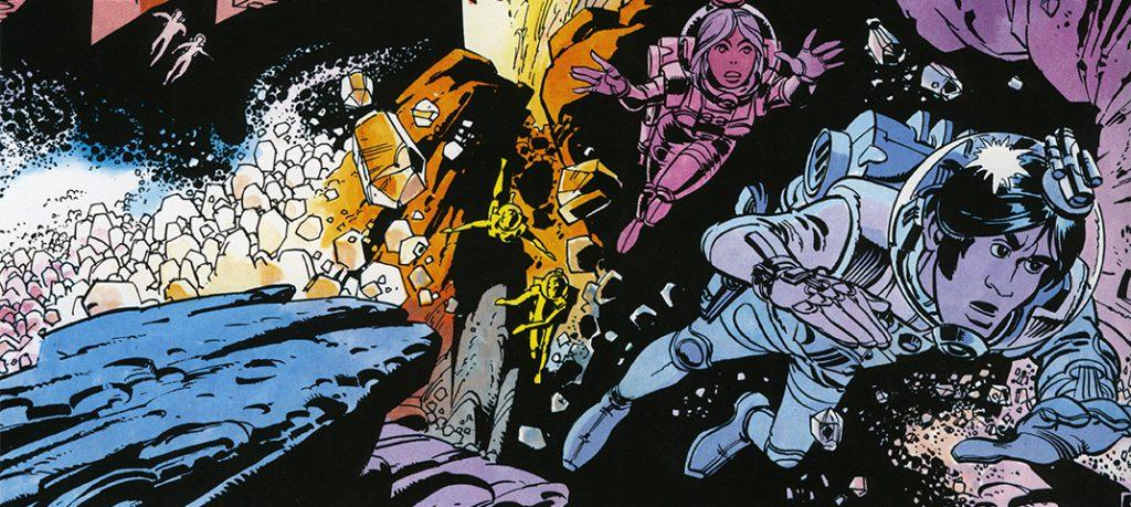 Valerian und Veronique schweben durch den Weltraum (© Mézières)