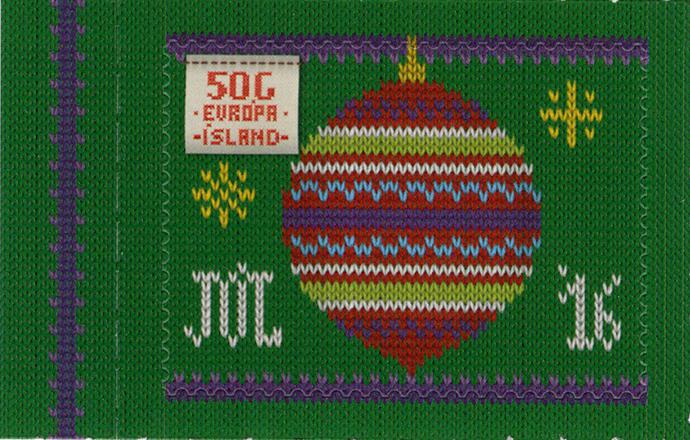 Weihnachtliche Briefmarken im Strick-Design – denn Stricken ist kein Trend, sondern Tradition auf Island! (© Isländische Post)