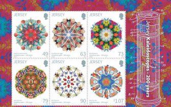 """Das umfangreiche """"Wildlife"""" Jerseys kommt auf diesen aufwändig gestalteten Kaleidoskop Briefmarken schön zur Geltung. (© Jersey Post)"""