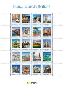 Briefmarken Reise durch Italien