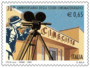 Briefmarke Cinecittá Italien