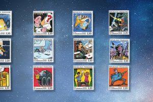 Die französische Comic-Briefmarkenserie von 1988