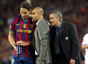 Ibrahimovic mit Mourinho und Guardiola