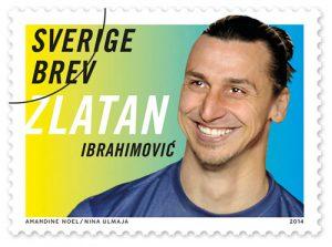 Briefmarke Super Zlatan zum Kleben