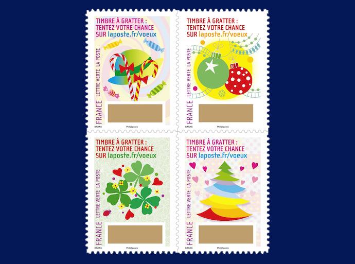 In jedem dieser Briefmarken-Sets der französischen Post stecken tolle Gewinnchancen! (© La Poste)