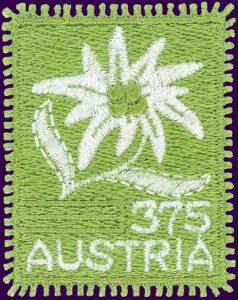Edelweiß Stickerei-Briefmarke