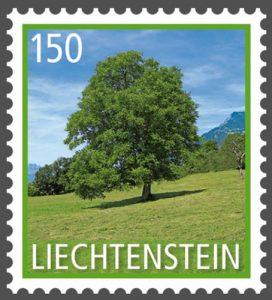Baum: Walnuss auf Briefmarke