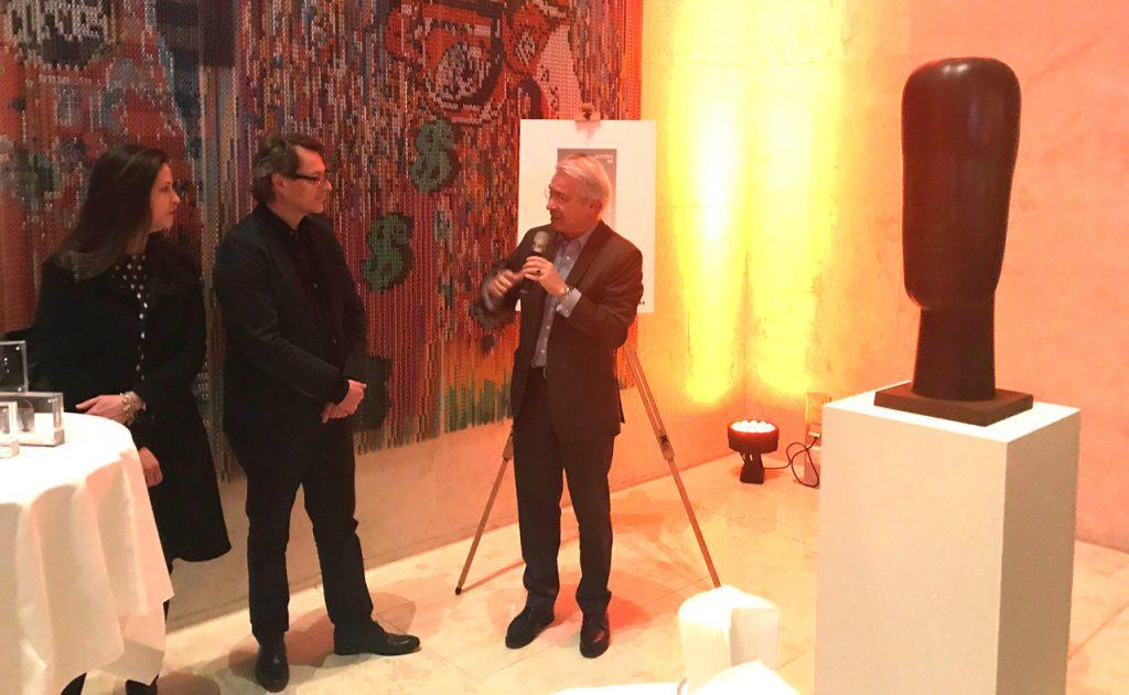 Generaldirektor der Österreichischen Post AG, Dr. Georg Pölzl, bei der Präsentation der Avramidis Marke.