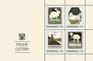 Briefmarken mit Motiven der Wiener Werkstätte