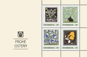 Oster-Briefmarken der Wiener Werkstätte