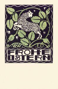 Postkarte Ostern der Wiener Werkstätte
