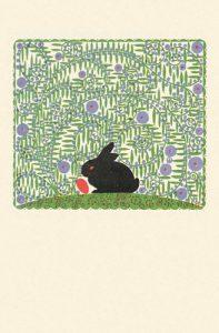 Osterhase auf Postkarte der Wiener Werkstätte