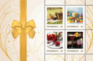riefmarken zu den Gutschein-Postkarten