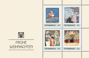 Briefmarken zu Weihnachtskarten