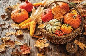 Goldener Herbst zum Verschicken auf Postkarte