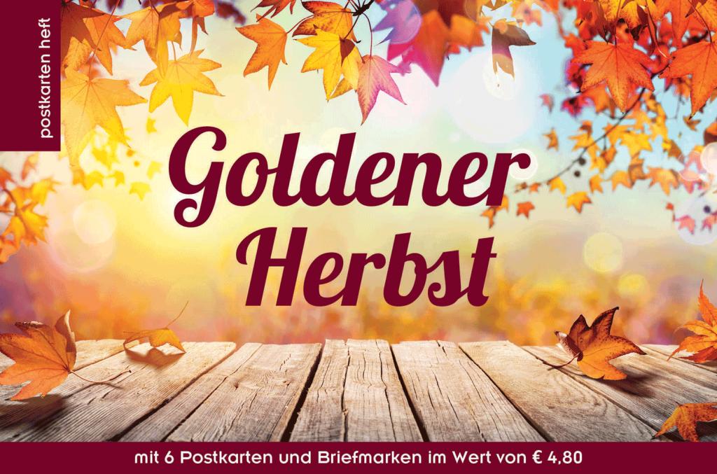 Ein goldener Herbst auf Postkarten und Briefmarken