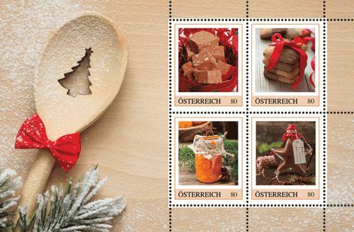 Geschenk: Köstliches auf Briefmarken