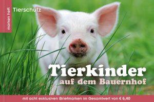 Markenheft zum Tierschutz: Tierkinder auf dem Bauernhof