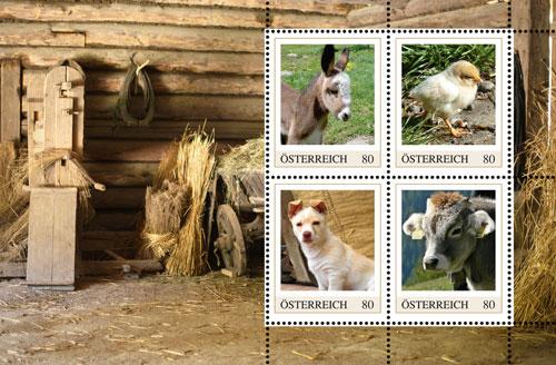 Ein Markenblatt zum Markenheft Tierschutz