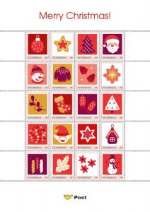 Merry Christmas Weihnachtsbriefmarken