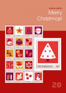 Merry Christmas - bunte Weihnachtsbriefmarken