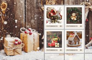 Briefmarken zum Postkartenheft Weihnachten