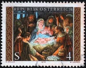 Weihnachtsbriefmarke Österreich