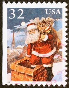 Santa auf USA Briefmarke