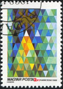 Weihnachtsbriefmarke aus Ungarn