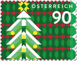 Weihnachtsbaum Briefmarke Österreich