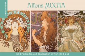 Wunderschöne Postkarten und Briefmarken mit Motiven von Alfons Mucha