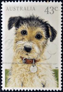 Briefmarke Australien Hund