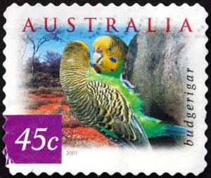 Briefmarke Australien Sittich