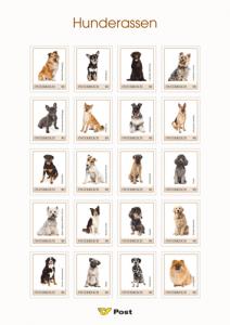 Hunderassen auf Briefmarken