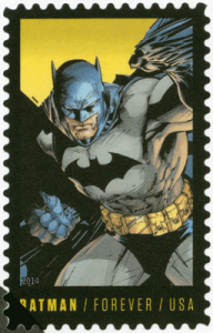 Batman auf Briefmarke