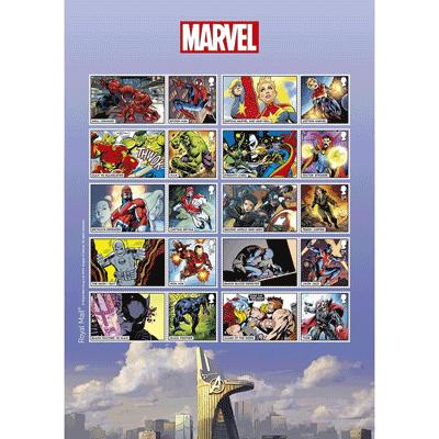 Superhelden auf Markenbogen