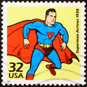 Superman auf Briefmarke
