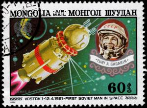 Juri Gagarin - ein Held auf Briefmarke