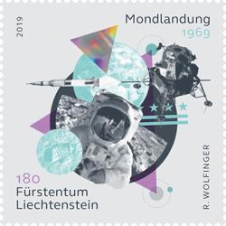 Die Liechtensteiner Marke zeigt einen Astronauten