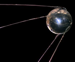 Eine Replik von Sputnik 1