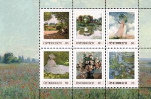 Briefmarken mit Motiven von Claude Monet