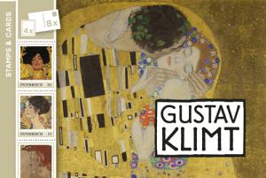 Gustav Klimt Heft mit Postkarten und Briefmarken