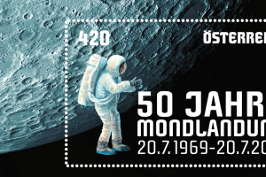 Sondermarke der Österreichischen Post: 50 Jahre Mondlandung